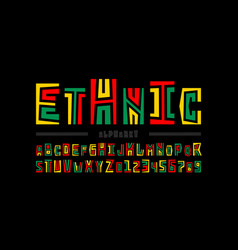 ethnic style font vector image