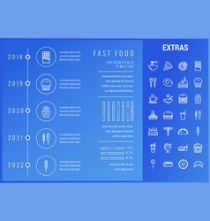 Fast food infographic template and elements vector