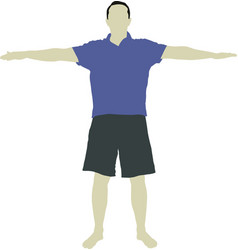 Figure male with open arms vector