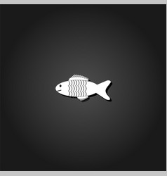 fish icon flat vector image