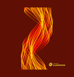 flame fire background for design and presentation vector image