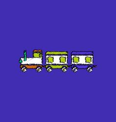 Flat shading style icon babies train vector