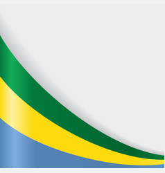 gabon flag background vector image