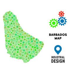 Gears barbados map mosaic vector