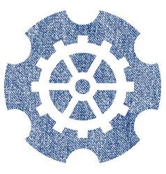 Gearwheel fabric textured icon vector