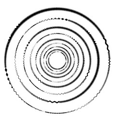 geometric circle with distorted shapes rotating vector image