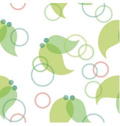 Green geometric leaf background seamless patterrn vector