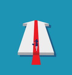 Growth arrow business running to goal concept vector