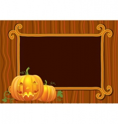 Halloween old paper vector image