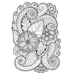 Hand drawn patterns with flowers Ornate patterns vector image