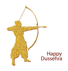Happy dussehra background concept vector