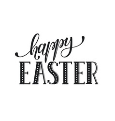 happy easter text vector image
