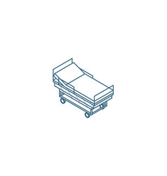 hospital bed or ward medical treatment vector image