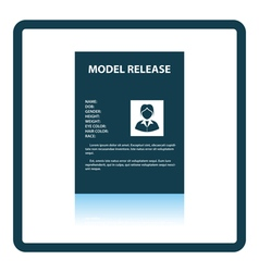 Icon of model release document vector image