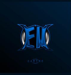 initial ew logo design initial ew logo design vector image