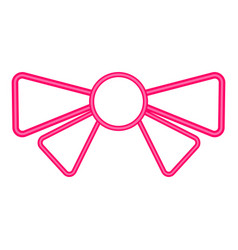 isolated bow ribbon icon vector image