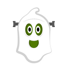 isolated cute halloween zombie ghost vector image