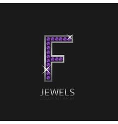 Letter F logo vector