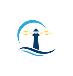 light house logo template icon vector image