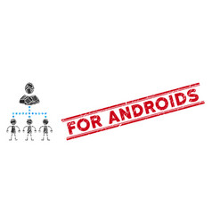 Manage androids mosaic and scratched for androids vector