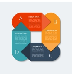 Modern arrow infographic banner vector