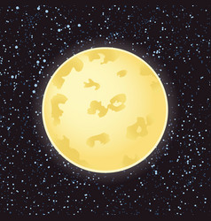 moon and stars in dark night vector image