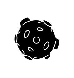 Moon black glyph icon vector