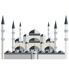 Mosque blue mosque vector