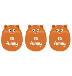 orange cat in cartoon style 1 vector image