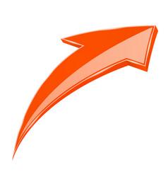 Orange up arrow 3d sign vector