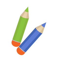 Pencil icon flat cartoon style isolated on vector
