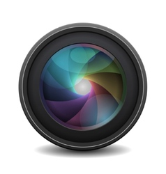 Photo Lens isolated on white background vector image
