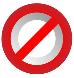 Prohibition restriction sign red no entry do not vector
