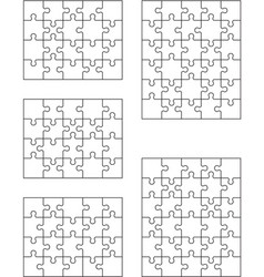 puzzles isolated pieces vector image
