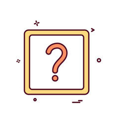 question mark ask icon design vector image