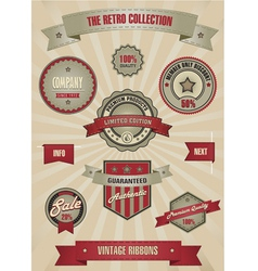 Retro design set elements vector