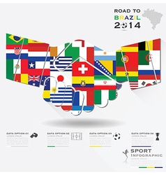 Road To Brazil 2014 Football Tournament Sport vector image