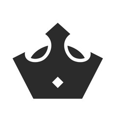 royal crown black icon king and queen monarchy vector image