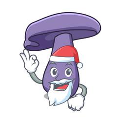 Santa blewit mushroom mascot cartoon vector