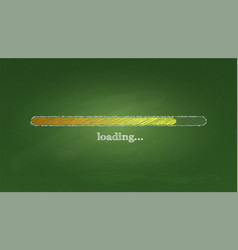 school chalkboard with loading bar counting down vector image