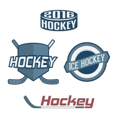Set of colorful Hockey Team Labels vector image