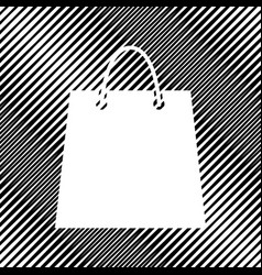 shopping bag icon hole in vector image
