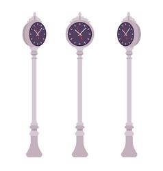silver street clock set vector image