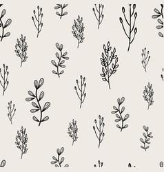 Simple leaf shape seamless pattern autumn vector