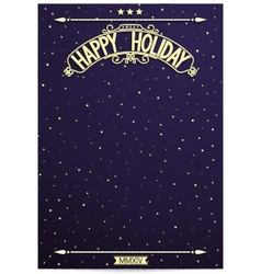 Space poster Happy Holiday for wishes vector