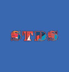 stds concept word art vector image