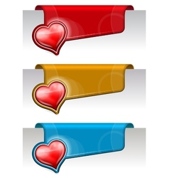 Stickers on the edge of the page vector image