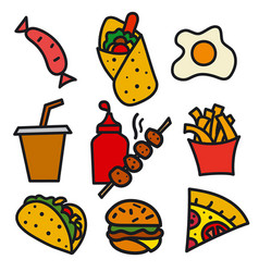 streed food icon vector image