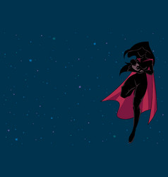 Super mom with baby space silhouette vector