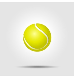 Tennis ball on white background with shadow vector image